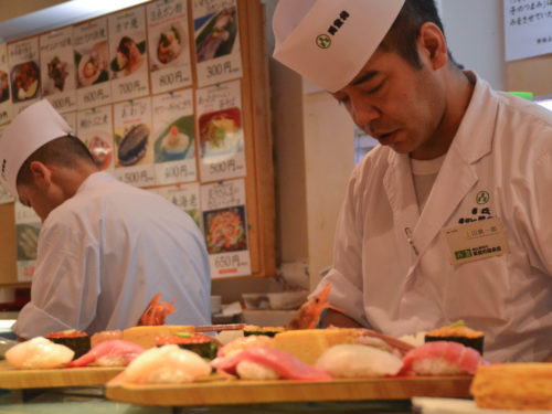 Sushi workshop in Tokio